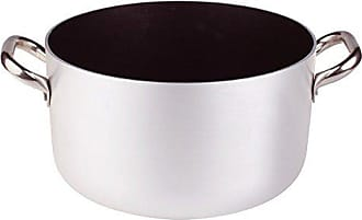 Deep Platinum Saucepot With 2 Handles Adherent 3 Mm 3.49 Litre Silver Pentole Agnelli Professional Aluminium Anti Colour