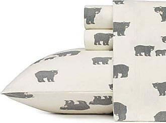 Revman International Eddie Bauer Bear Family Flannel Sheet Set, Queen, Gray