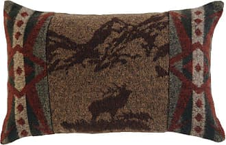 Wooded River Rocky Mountain Elk Decorative Throw Pillow - WD1482