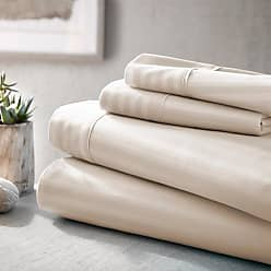 Noble Linens 800 Thread Count Premium Ultra Soft Embossed Stripes Sheet Set by Noble Linens, Size: Queen - NL-STRIPE-QUEEN-IVORY