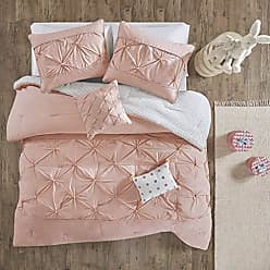 Urban Habitat Aurora 5 Pieces Cotton Reversible Comforter Set Bedding, Full/Queen Size, Blush
