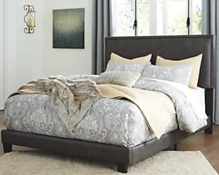 Ashley Furniture Dolante Queen Upholstered Bed, Grayish Brown