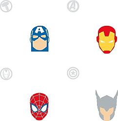 RoomMates Avengers Character Spot Peel and Stick Wallpaper - RMK11187RL
