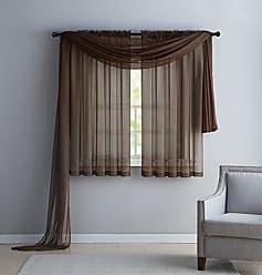 VCNY Home VCNY INF-PNL-5563-IN-CH Infinity Sheer Panel, 55 by 63-Inch, Chocolate