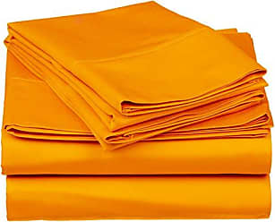 Home City Inc. Superior 1500 Series Premium Quality 100% Brushed Soft Microfiber 4-Piece Luxury Deep Pocket Cooling Bed Sheet Set, Hypoallergenic, Wrinkle and Stain Resistant - King, Orange