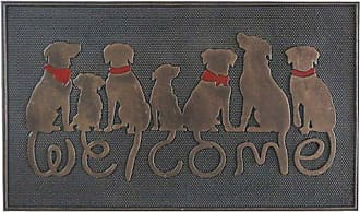 First Impression Dog Tail Welcome Outdoor Door Mat - A1HOME200041