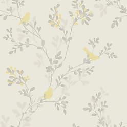 Brewster Home Fashions SW Nadia Yellow Bird Wallpaper - 2704-41262SW