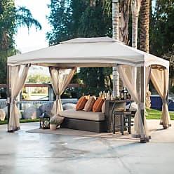 Belham Living Catina 13 x 10 ft. Cabin Style Garden House Canopy Gazebo - 5LGZ1295