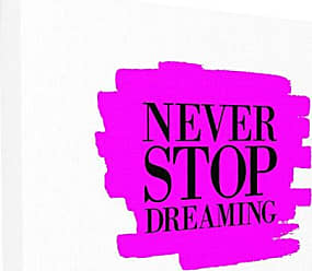 Stupell Industries Stupell Home Décor Never Stop Dreaming Black and Pink Oversized Stretched Canvas Wall Art, 24 x 1.5 x 30, Proudly Made in USA