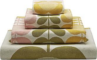 Orla Kiely Summer Flower Stem Towel - Lemon Yellow - Hand Towel