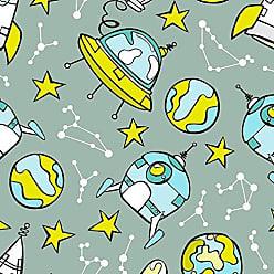Lar Adesivos Papel de Parede Infantil Adesivo Espaço Astronauta Céu N4143