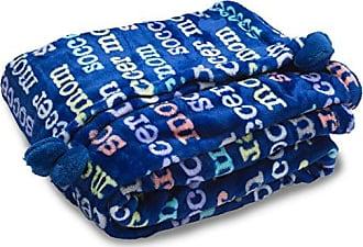 Pavilion Gift Company Mom Love Plush Soccer Mom Blanket 60 x 50, Solid, Navy Blue