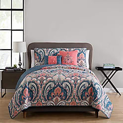 VCNY Home 4 PC Bohemian Reversible Quilt Cover and Pillow Shams Bedding Set