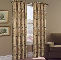 United Curtain Jewel Heavy Woven Window Curtain Panel, 54 by 63-Inch, Multi