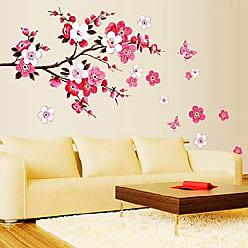 Zoo Adesivo Decorativo Flores Rosa e Branca com Galhos
