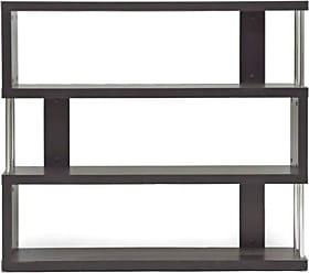 Wholesale Interiors Baxton Studio Barnes 3-Shelf Modern Bookcase, Dark Brown
