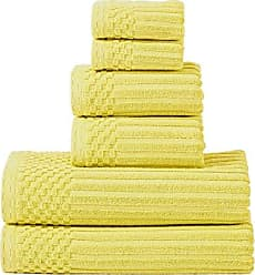 Home City Inc. Superior Soho 100% Cotton Towel Set, 6-Piece, Golden Mist