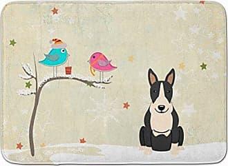 Multicolor 20 x 30 Carolines Treasures BB2605CMT Christmas Presents Between Friends Bull Terrier Black White Kitchen or Bath Mat