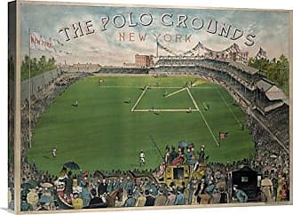 Bentley Global Arts Global Gallery Budget GCS-376499-1824-142 Vintage Sports New York Polo Grounds Gallery Wrap Giclee on Canvas Wall Art Print