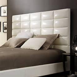 Weston Home Baylor Bonded Leather Upholstered Column Headboard, Size: Full - 68E990B712WHB