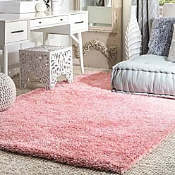 nuLOOM OZAS01E Soft Cloudy Shag Rug, 5 3 Square, Baby Pink