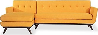 Kardiel LF-CITRUSPOP Jackie Mid-Century Modern Left Sectional Sofa, Citrus Pop