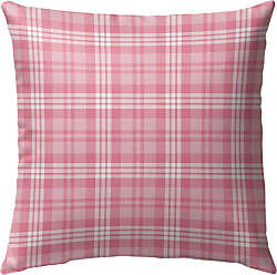 Kavka Designs Be Mine Pink Plaid Outdoor Pillow - OPI-OP16-16X16-NOR041