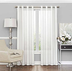 Ellery Homestyles Eclipse 15458052063WHI Liberty 52-Inch by 63-Inch Light Filtering Single Sheer Curtain Panel, White