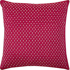 Rizzy Home One of a Kind Beaded Diamond Shaped All Over Decorative Pillow, Pink