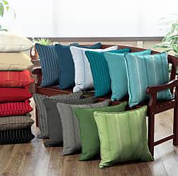 Belham Living Acrylic 20 x 20 in. Outdoor Throw Pillows - Set of 2 Graphite Gradated Stripe - AH1F528B-D9H2