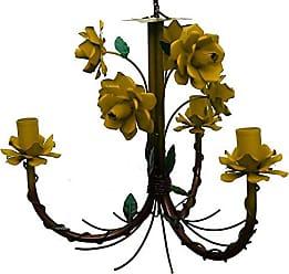 Libertas Rosas Artesanato Lustre de Ferro com Flores Artesanal Fabricação Própria para Sala