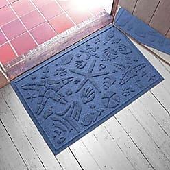 Bungalow Flooring AquaShield Beachcomber Doormat, 2 x 3, Navy