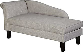 Target Marketing Systems 66320GRY Leena Storage Chaise, Single, Gray