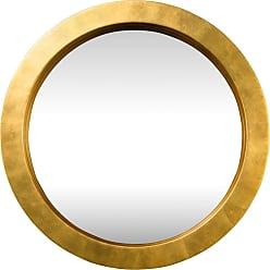 Varaluz Ringleader 23.5 Round Mirror in Gold Leaf