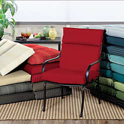 Belham Living Acrylic 44 x 22 in. Double Hinged Outdoor Chair Cushion Graphite Gradated Stripe - AH1F216B-D9H1