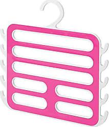 InterDesign Closet Organizer Hanger for Camisoles, Scarves, Pashminas, Accessories - White/Pink