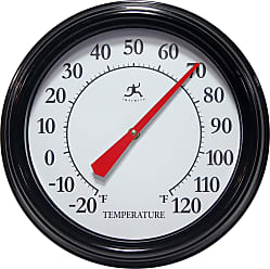 Infinity Instruments Executive Indoor/Outdoor Hanging Thermometer Silver - 15355SV-4336