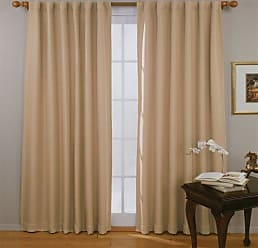 Ellery Homestyles ECLIPSE Blackout Curtains for Bedroom - Fresno 52 x 63 Insulated Darkening Single Panel Rod Pocket Window Treatment Living Room, Wheat