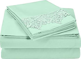 Superior 100% Brushed Microfiber Wrinkle Resistant California King Sheet Set, 4-Piece, Mint
