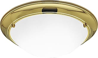 PROGRESS P3564-10EB Three-light close-to-ceiling in Polished Brass finish with satin white glass