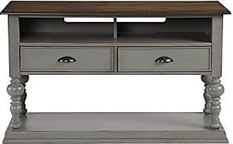 Progressive Furniture T580-05 Colonnades Sofa/Console Table, Weathered Gray/Oak