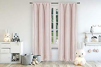 Duck River Textile Lala + Bash Miranda Metallic Blackout Darkening Window Curtain 2 Panel, 37 x 96, Pink
