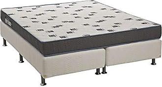 Ortobom Conjunto Cama Box Bipartido Physical com Colchão Queen Espuma D33 Light (20x158x198) Azul