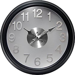 Infinity Instruments The The Onyx Modern Indoor Wall Clock with Flair