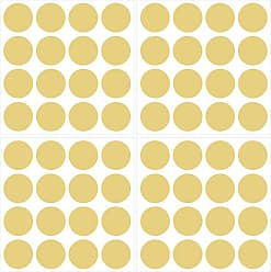 Brewster Home Fashions Home Metallic Gold Confetti Dots Decal - Set of 4 - TWPD1806