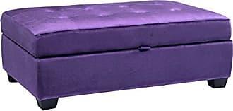 CorLiving LAD-154-O Antonio Storage Ottoman, Purple