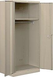 Salsbury Industries Wardrobe Heavy Duty Storage Cabinet, Unassembled, Tan