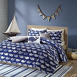 Urban Habitat Moby Twin/Twin XL Kids Bedding Sets for Boys - Navy, Whale - 4 Pieces Boy Comforter Set - 100% Cotton Kid Childrens Bedroom Comforters