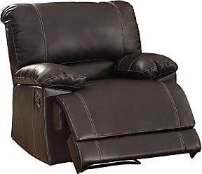 Homelegance Reclining Arm Chair Plush Seating Faux Leather Brown