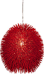 Varaluz Recycled Urchin Pendant - One Light Super Red